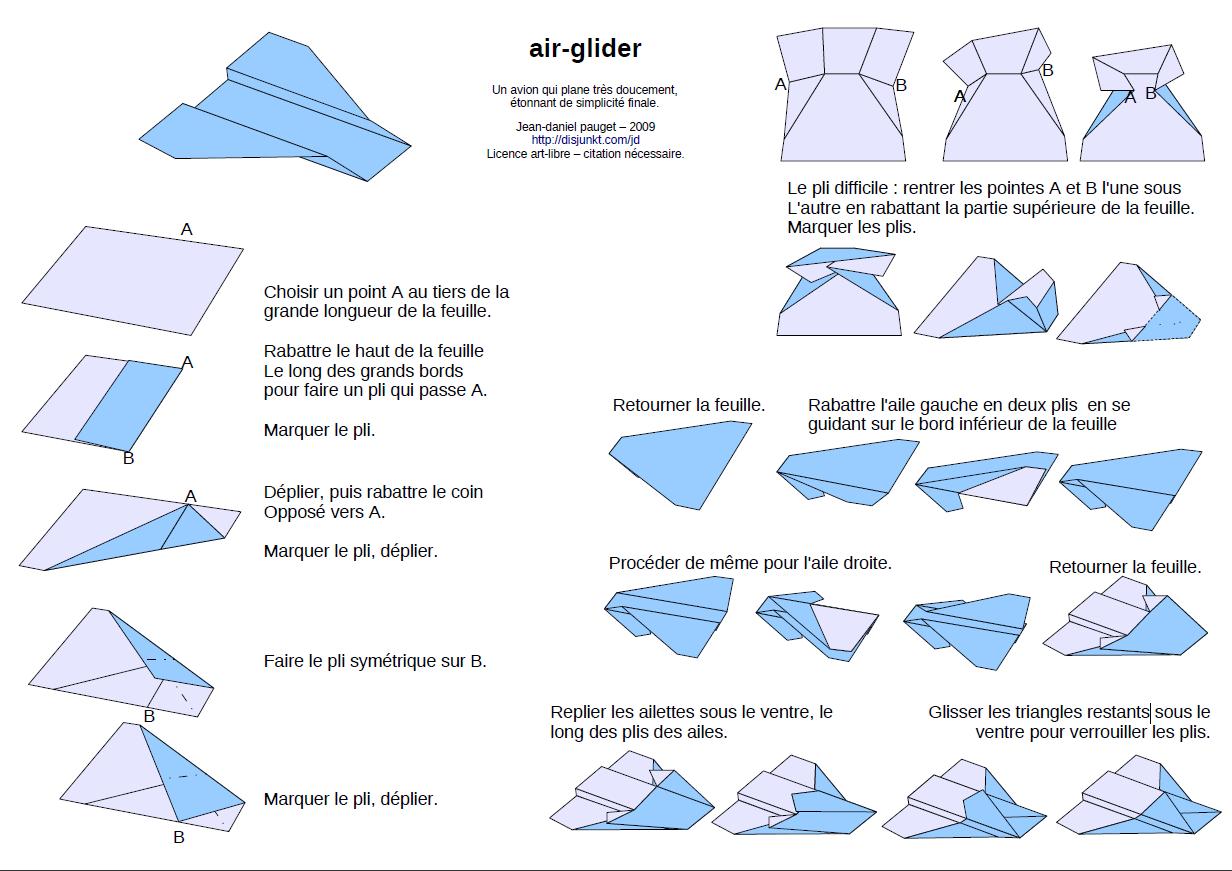 Bien connu Faire Des Avions En Papier Facile - Fashion Designs KA32